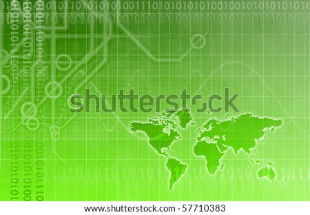 Futuristic Technology Data Flow as Art Abstract - stock photo