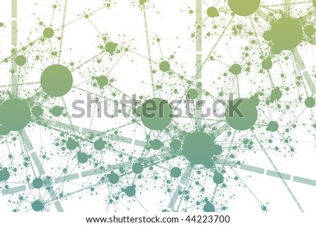 Futuristic Technology Data Flow Color Digital Abstract - stock photo