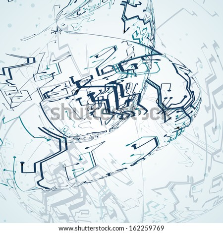 Futuristic technology illustration, circuit board background