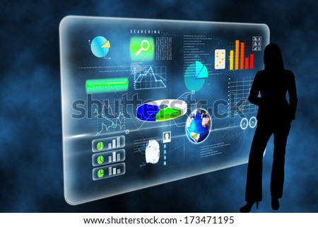 Futuristic technology interface against futuristic technology interface