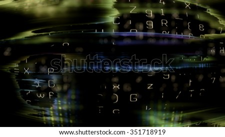 Futuristic technology screen display 10618 from a series of abstract future tech imagery. - stock photo