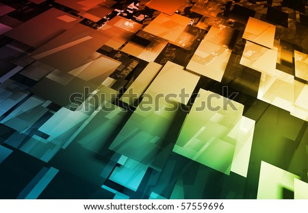 Futuristic Technology with a Digital Web Art - stock photo