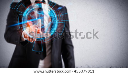 Futuristic touch - stock photo