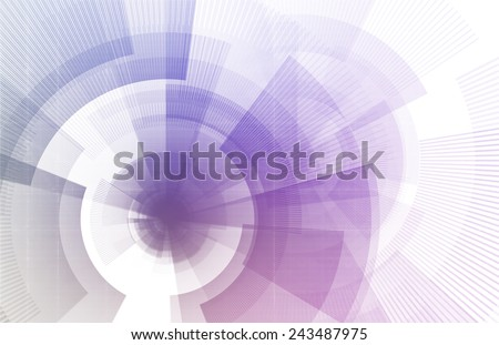 Futuristic User Interface and Navigation System as Concept - stock photo