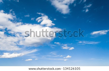 Fuzzy Air Cloudscape Divine - stock photo