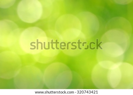 Fuzzy and Blurred Bright Green Lights as Abstract Holiday Background - stock photo