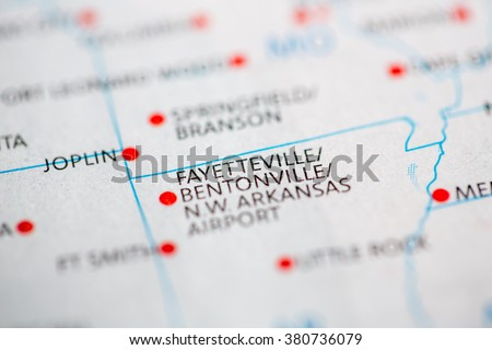Fyaetteville. Bentonville. Arkansas. USA - stock photo
