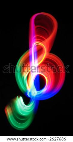 G clef - stock photo
