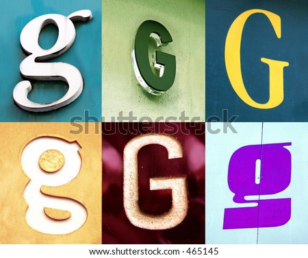 G letter - the Urban collection write with the street - stock photo