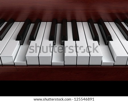 G minor accord on piano - stock photo