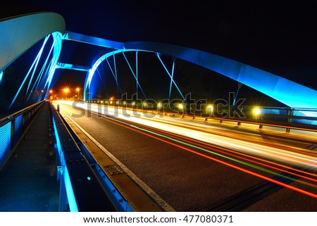 Günzburg Bridge at night