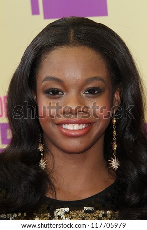 Gabby Douglas at the 2012 Video Music Awards Arrivals, Staples Center, Los Angeles, CA 09-06-12 - stock photo