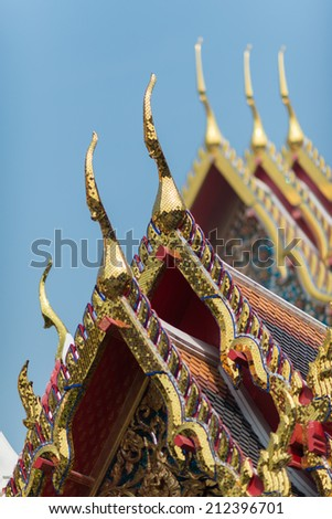 Gable apex at Wat-Po Thailand - stock photo
