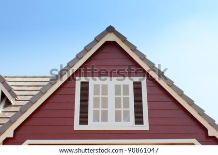 gable of the house - stock photo