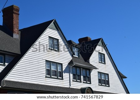 Exceptional Gable Roof On Historic House. Gabled Roof On Historic House In Cape May, New