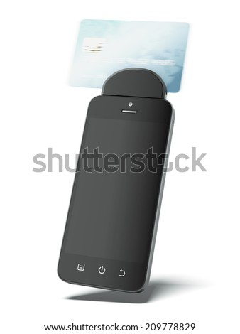 Gadget for reading credit cards