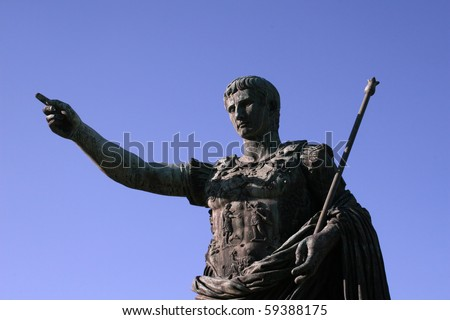 Gaius Julius Caesar Augustus - stock photo