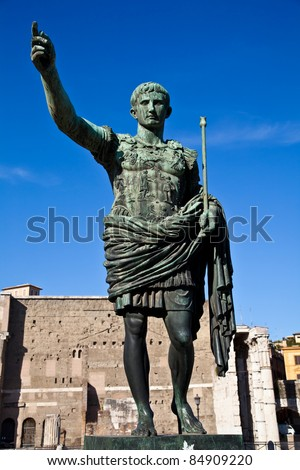 Gaius Julius Caesar (13 July 100 BC â?? 15 March 44 BC) was a Roman general and statesman. Useful for leadership concepts. - stock photo