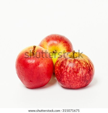 gala apples over white background - stock photo