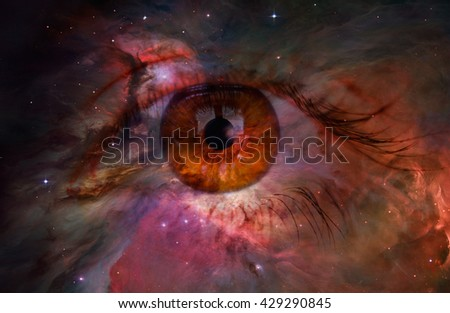 """Galactic Eye """"Elements of this image furnished by NASA"""" - stock photo"""
