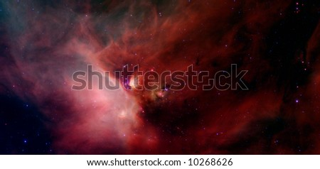 Galactic Nebula - stock photo