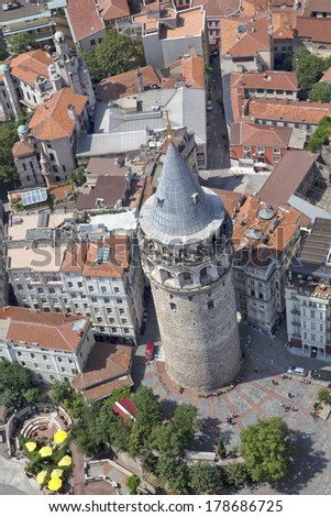 galata tower - stock photo