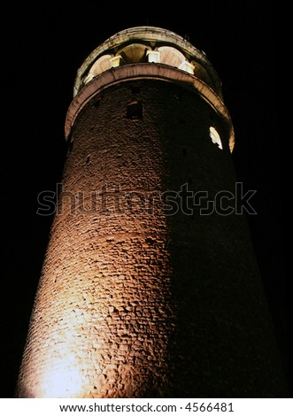 Galata tower, Galatasaray, Istanbul, Turkey - stock photo