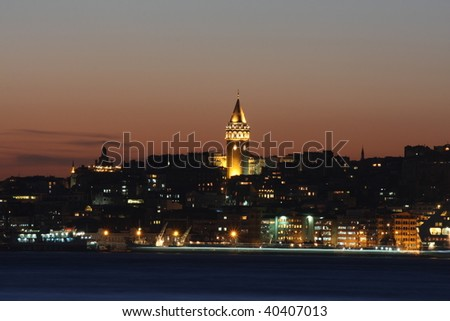 Galata Tower in istanbul.