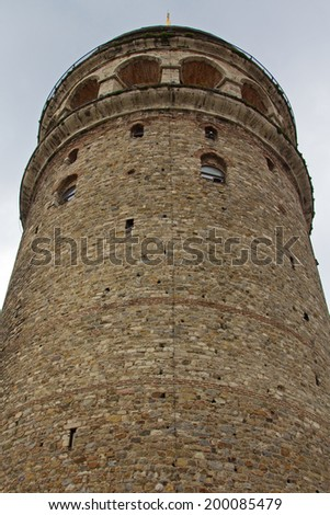 Galata tower in Istanbul, Turkey - stock photo