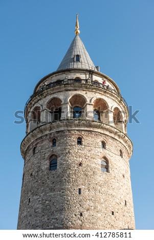 Galata Tower. Istanbul, Turkey. - stock photo