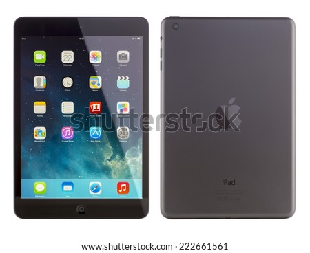 GALATI, ROMANIA, JANUARY 23, 2014: - iPad mini is powered by the new A7 chip with 64-bit architecture.  Galati, Romania, January 23, 2014  - stock photo
