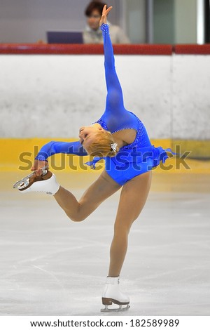 Galati, Romania - October 24: Unknown skater competing in the event ''Cristal skate'' of Romania, on 24 October, in Galati, Romania - stock photo