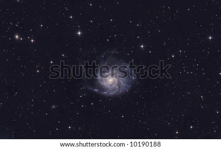 Galaxy and stars - stock photo