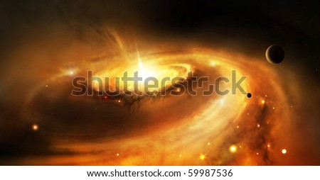 Galaxy core in space - stock photo