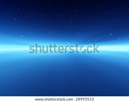 Galaxy horizon space illustration