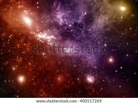 galaxy in a free space - stock photo