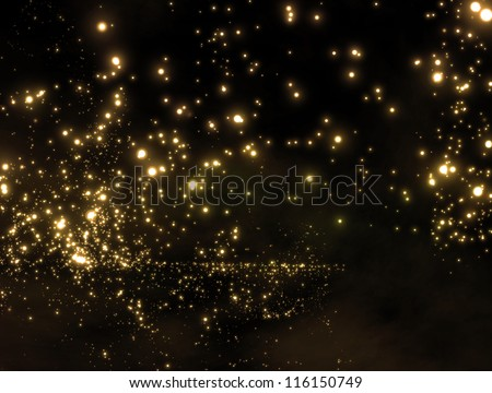 galaxy in outer space - stock photo