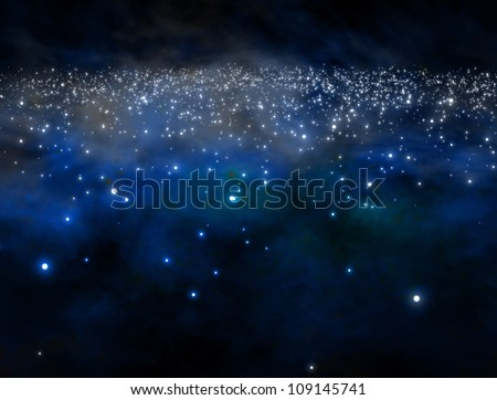 galaxy in outer space  /  see my portfolio for more works - stock photo