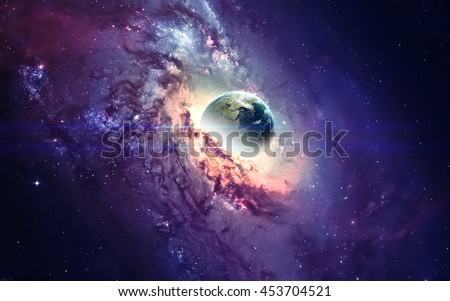 Galaxy In Space Beauty Of Universe Black Hole Elements Furnished By NASA