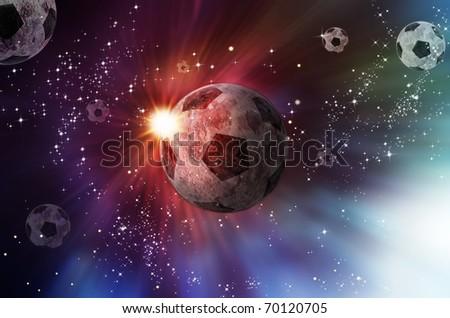 Galaxy of ball - stock photo