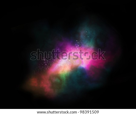 galaxy Orion in the universe - stock photo