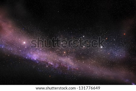 Galaxy starfield - stock photo
