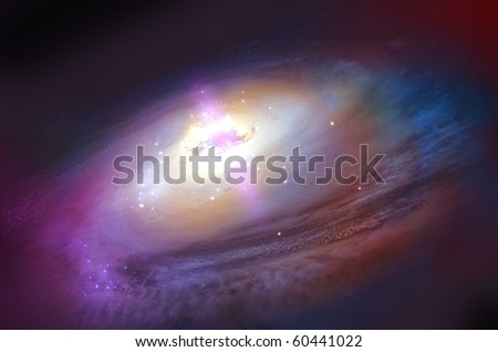 Galaxy  starry background of stars and nebulas in deep outer space - stock photo