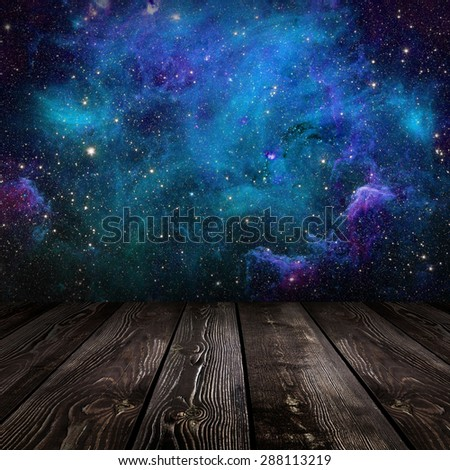 galaxy stars nature background. Elements of this image furnished by NASA - stock photo