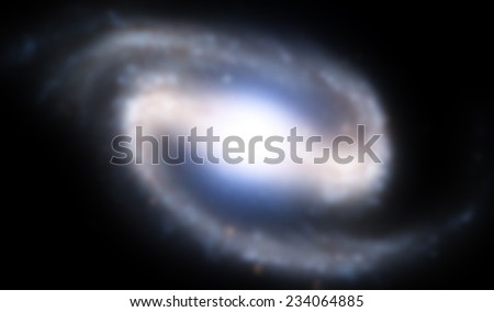Galaxy with stellar background. Elements of this image furnished by NASA. - stock photo