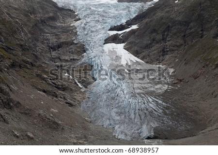 Galciers of alps - stock photo
