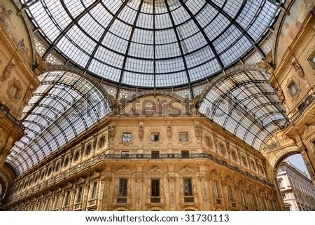 Galerie Vittorio Emanuele in Milano, Milan - stock photo