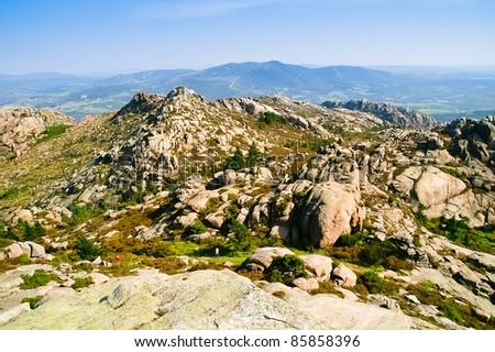 galician view. Mount Pindo - stock photo