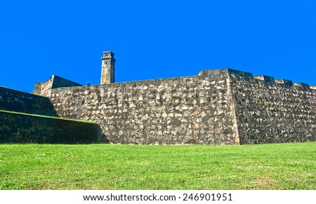 Galle Dutch Fort 17th Centurys Ruined Dutch Castle That Is Unesco Listed As A World Heritage Site In Sri Lanka - stock photo