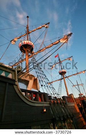 galleon - stock photo